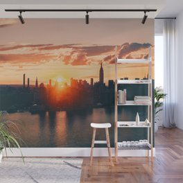 Sunrise in New York City (Color) Wall Mural