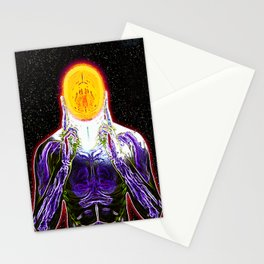 MIND #2 Psychedelic Meditation Vibrant Ethereal Design Stationery Cards