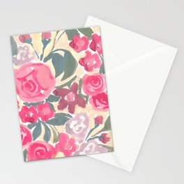 Cream Floral Stationery Cards