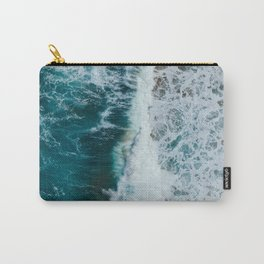 crashing waves- beach Carry-All Pouch