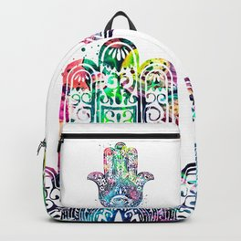Watercolor Hamsa Hand Backpack