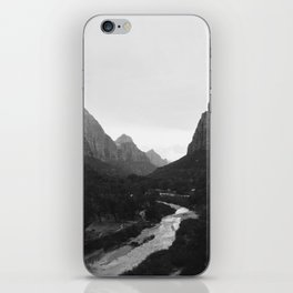 Zion black and white iPhone Skin