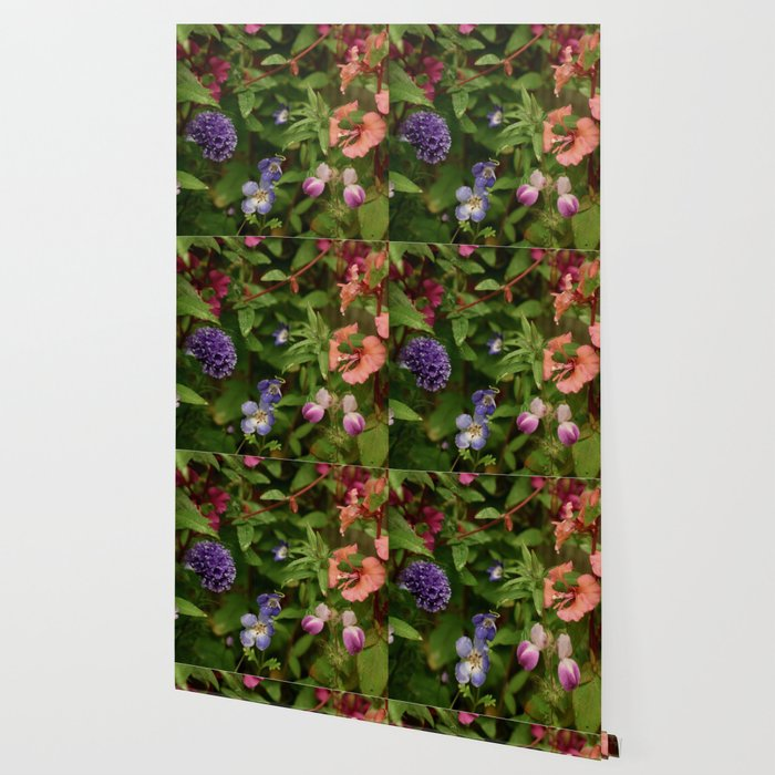 Wildflower Garden In The Morning Wallpaper