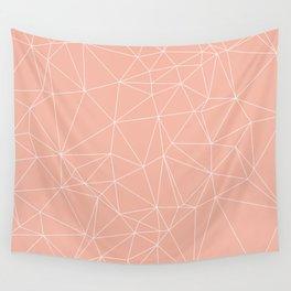 Millennial Pink Geometric Minimalist Pattern Wall Tapestry