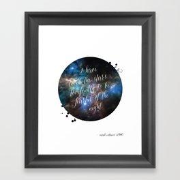 Loved the Stars Framed Art Print