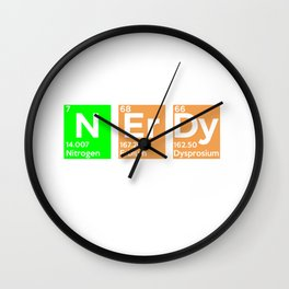 I May Be Nerdy but Only Periodically - Funny Gift Wall Clock