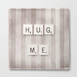 Hug Me Photography, Brown Neutral Love Photograph Metal Print
