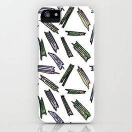 wood pieces iPhone Case