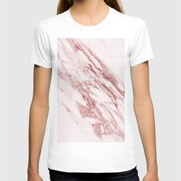 Deep rose pink marble T-shirt