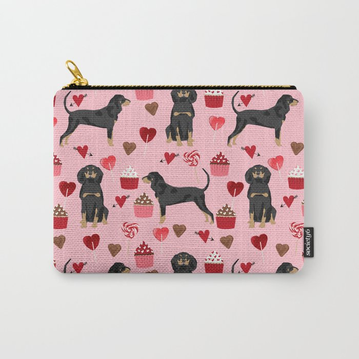 Coonhound Love Cupcakes Hearts Valentines Day Cute Dog Breed Gifts