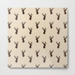 Brown Stag Pattern  Metal Print