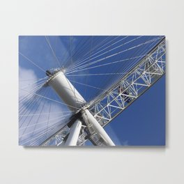 Blue Sky And The London Eye. Metal Print