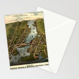 Map Of Mystic 1879 Stationery Cards