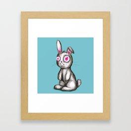 Rabbit with red eyes Framed Art Print