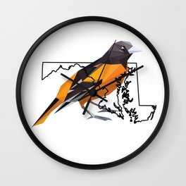 Maryland – Baltimore Oriole Wall Clock