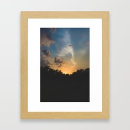 Another Texas Hill Country Sunset Framed Art Print