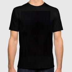 Sunshine and Palm Trees MEDIUM Black Mens Fitted Tee