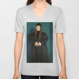 "Hans Holbein the Younger ""Christina of Denmark, Duchess of Milan"" Unisex V-Neck"