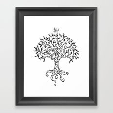 Shirley's Tree BW Framed Art Print
