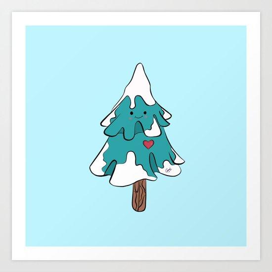 Cute pine tree Art Print