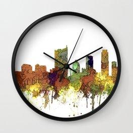 Austin, Texas Skyline - SG - Safari Buff Wall Clock