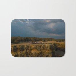 la mine france aerial drone shot cliff people sunset clouds goldenhour Bath Mat