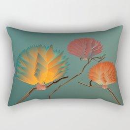 Origami Forest Birds  Rectangular Pillow