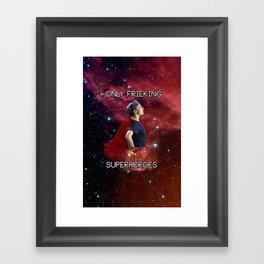 Only frieking superheroes- Amelia Shepherd Framed Art Print