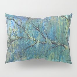 Prelude to Spring Colorful Tree Painting Pillow Sham