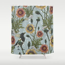 Aye Aye Magpie! Shower Curtain