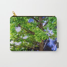 Four Seasons Photosynthesis - Summer. Green Oak Tree And A Solar Power Panel Carry-All Pouch