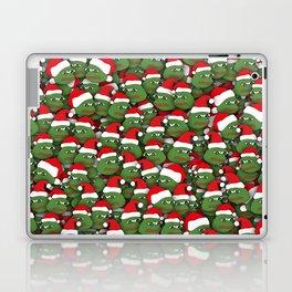 Sad christmas frogs pattern Laptop & iPad Skin
