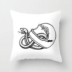 vipera b/w Throw Pillow