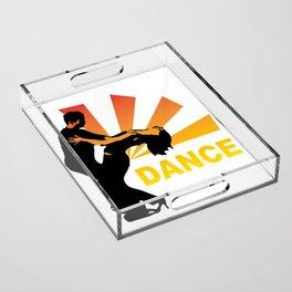 dancing couple silhouette - brazilian zouk Acrylic Tray
