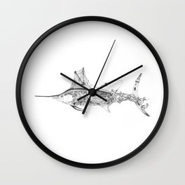 Fisherman Marlin Wall Clock