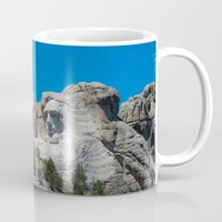 rushmore Mugs featuring Mount Rushmore by DMSanchez