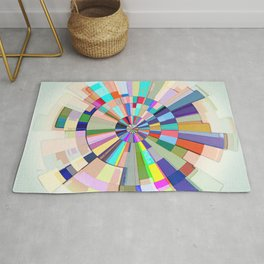 Abstract Color Wheel Rug