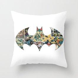 Comic Collage Throw Pillow