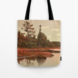 Grundy Lake Provincial Park Poster Tote Bag