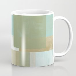 Modern Abstract No. 5    Aqua, Chocolate, Sage + Mocha Coffee Mug