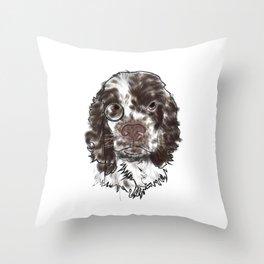 Sir Spaniel Throw Pillow