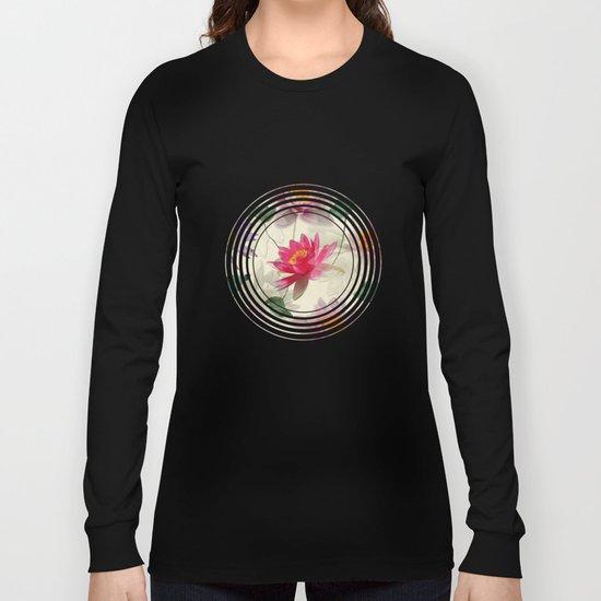 Lotus Flower Pattern Long Sleeve T-shirt