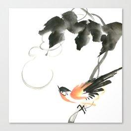 Bird 3- Chinese Shui-mo (水墨) Canvas Print