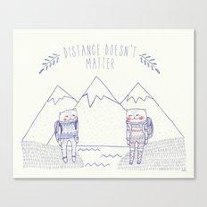 distance cat Canvas Print