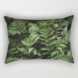Bunches Of Green Fern Leaf Rectangular Pillow