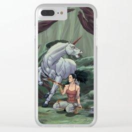 Asha and the Unicorn Clear iPhone Case
