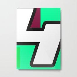 Number POP-4 Metal Print