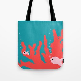 Pantone Living Coral Reef Tote Bag