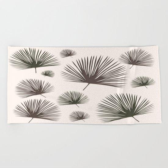 Softer Seasons (sand fan palm) Beach Towel
