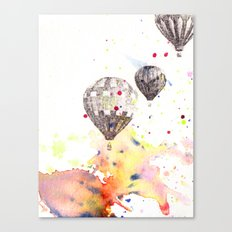 Hot Air Balloons Painting Canvas Print